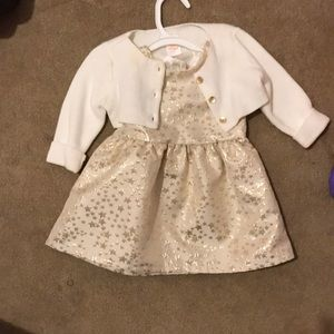 Baby dress and sweater